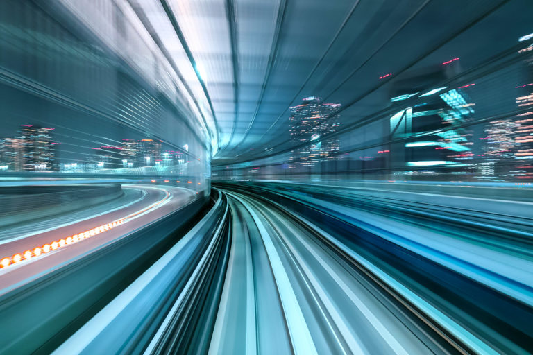 Motion Blur of Train Moving